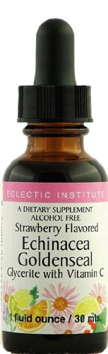 Echinacea-Goldenseal Strawberry Flavor No Alcohol Glycerite Eclectic Institute 1 oz (Eclectic Institute Echinacea Goldenseal)