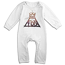 Dara Fall FOB Boy Band Newborn Babys Long Sleeve Jumpsuit Outfits White 6 M