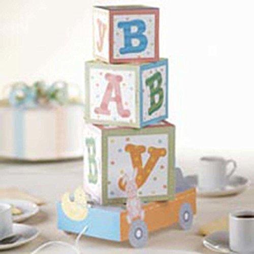 "Simplicity Wilton ABC Blocks Baby Shower Centerpiece, 8"" L x 5"" W x 14.5"" H"