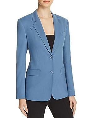 Womens Wylla Wool Long Sleeve Two-Button Blazer