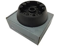 GM Chevy Black Deluxe Wood Wheel 6 Bolt Steering Wheel Column Adapter 1969 1970 1971 1972 1973 1974 1975 1976 1977 1978 1979 1980 1981 1982 1983 1984 1985 1986 1987 1988 1989 / OE# 3937896