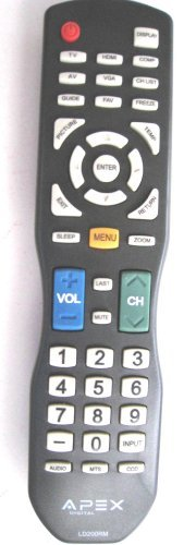 APEX LD200RM Remote Control for all APEX LCD & LED TV for selected models - Apex Suit