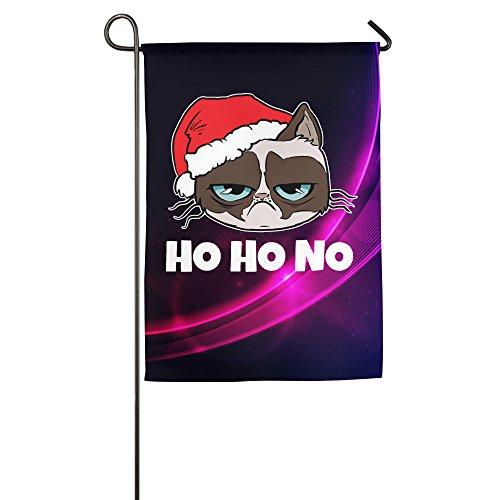 [Grumpy Santa Cat Christmas Xmas Mesh Family Party Flag] (Grumpy Cat Costume Ideas)