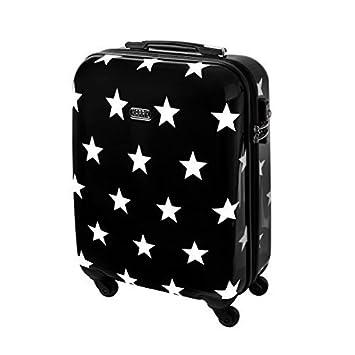 7ae18eec3 Karry rígida Viaje Maleta TSA Negro Estrellas 820, Handgepäck Reise Koffer  30 Liter Schwarz Sterne 820 (Negro) - 121536575: Amazon.es: Equipaje