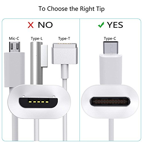 61W USB C Power Adapter With USB-C to USB-C Charge Cable for Apple Macbook Pro 13'',12'',iPad Pro,HTC 10,Nexus 5X/6P, LG G5,Pixel C,HP Spectre,Moto Z,Google Pixel 2/2 XL, Nintendo Switch and More by Elflight (Image #3)'