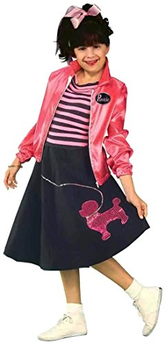 Forum Novelties Nifty Fifties Child's Costume, Medium (50s Pink Poodle Girls Costume)