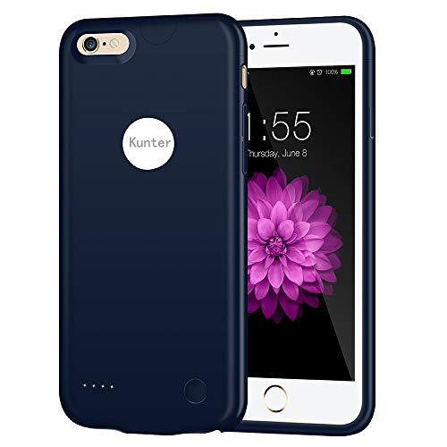 iPhone 6/6s Battery Case, 2500mAh Ultra Slim Portable Charger Case Rechargeable Extended Battery Charging Case for iPhone 6/6s(4.7 inch)-Blue by Kunter