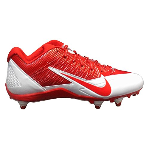NIKE Alpha Pro Detachable Football Cleats (12.5, White/Red)