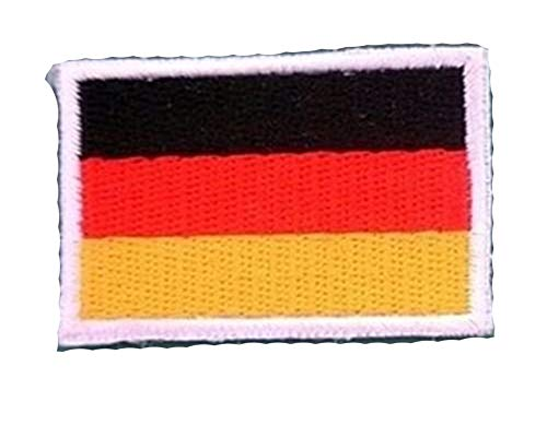 Germany National Flag Emblem Iron On Patch 3x4.5 cm Embroidered Backpack Country Patches -