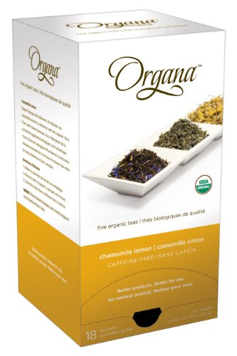 Organa ORG5025 Chamomile Lemon Single Cup Tea Pods, 18-count