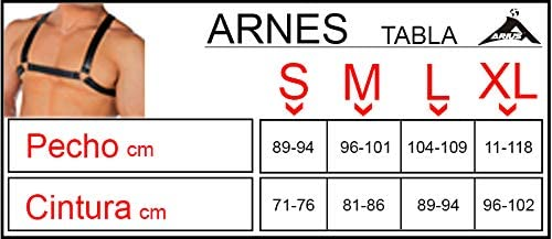 Arnes hombre simil arnes cuero hombre con aros metálicos - Arnes ...