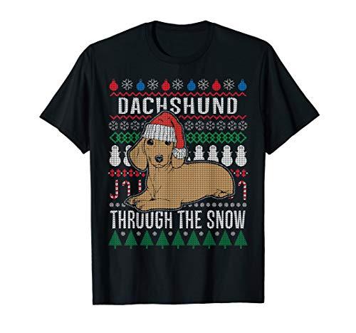 Ugly Christmas Shirt Ideas (Dachshund Through The Snow Ugly Christmas T-Shirt Gift)