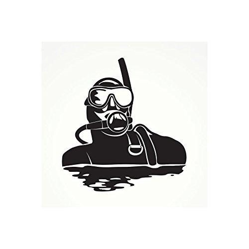 Decal Stickers Scuba Skull Motorbike Boat (4 X 3,64 In. ) Fully Waterproof Printed vinyl sticker