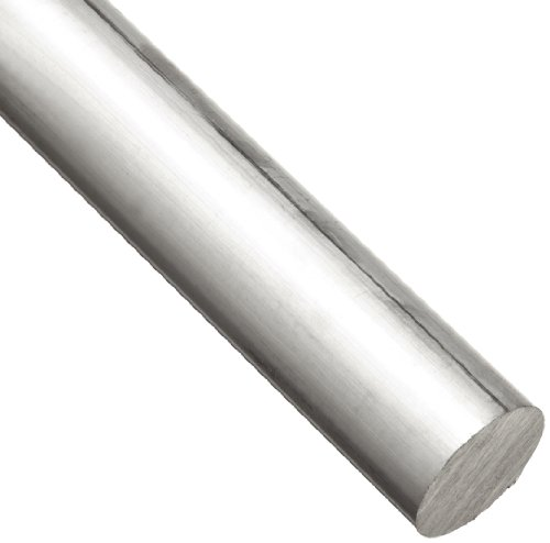 6061 Aluminum Round Rod, Unpolished (Mill) Finish, T6 Temper, ASTM B211, 3/4″ Diameter, 36″ Length
