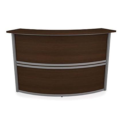 Amazon Com Ofm Marque Add On Unit Reception Desk In Walnut
