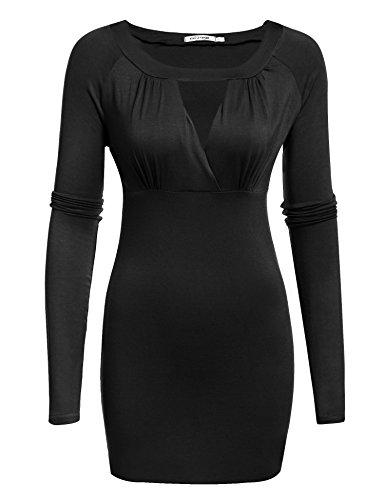 Meaneor Women's Elegant Cross-front V Neck Ruched Cap Sleeve Blouse
