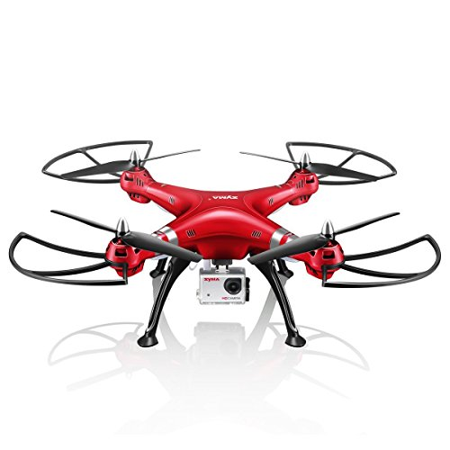 Syma X8HG Drone New Altitude Hold Mode Headless 3D Flips RC Quadcopter with 8MP Camera Red