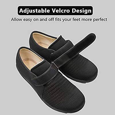 Secret Slippers Women's Air Cushion Breathable Adjustable Walking Shoes Comfy Elderly Outdoor Sneakers for Diabetic Orthopedic Edema | Walking