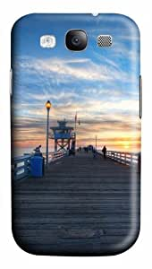 Pier at sunset PC Case Cover for Samsung Galaxy S3 and Samsung Galaxy I9300 3D