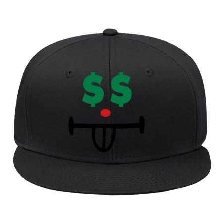 Adjustable Smiley Black Cotton Hip Hop Cap Snapback Hat Sport Snapback Male/female - Smiley Black Cap