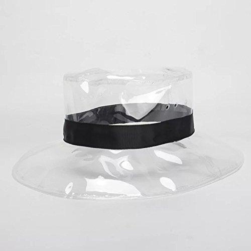 Trasparente PVC trasparente Cappuccio Cappello impermeabile per le donne Caro Decorative Caps Primavera-Estate Cosplay Wudi