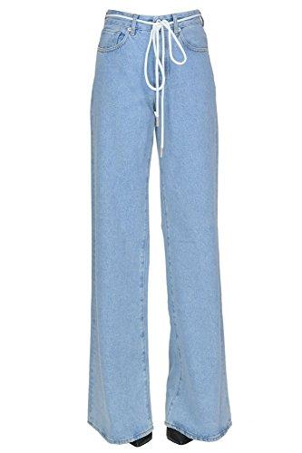 Bleu OFF Coton MCGLDNM04041I WHITE Femme Jeans qtw0Ftnr