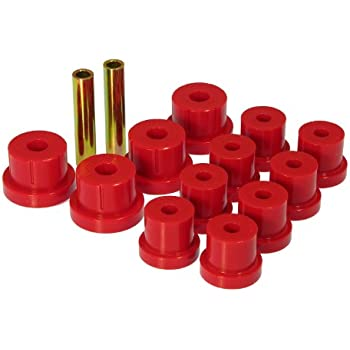 Prothane 7-1050 Red Rear Multi Leaf Spring Eye and HD Shackle Bushing Kit