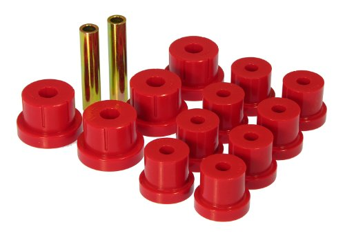(Prothane 7-1011 Red Rear Multi Leaf Spring Eye and Shackle Bushing Kit)