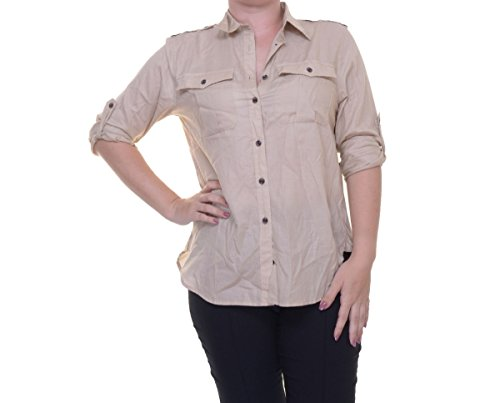 Denim & Supply Ralph Lauren Women's Surplus Boyfriend Shirt (Vintage Khaki, - Sale Womens Ralph Lauren