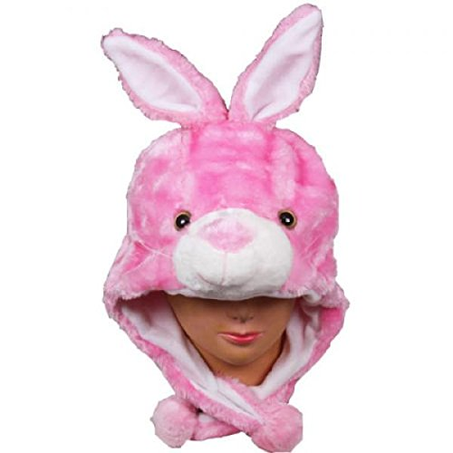 Hunger Games Dance Costumes (Bunny_New_Warm Cap Earmuff Gift Cartoon Animal Hat Fluffy Plush Cap - Unisex (US Seller))