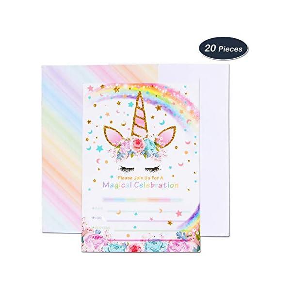 amztm Rainbow Unicorn, para fiesta temática decoración