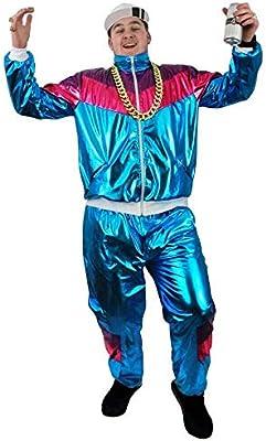 ILOVEFANCYDRESS - Disfraz de chándal Brillante de los 80 (Chaqueta ...