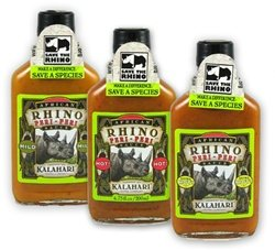 African Rhino Peri-Peri Hot Pepper Sauce Set