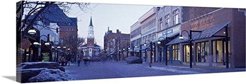 Canvas On Demand Premium Thick-Wrap Canvas Wall Art Print entitled Church Street Burlington VT - St Church Burlington Vt