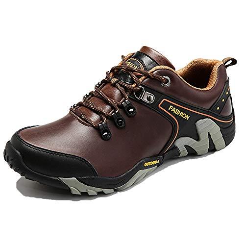 Exteriores Senderismo Calzado Ropa Con brown Plataforma Casual Zapatos Deportivo Para Cordones Cuero 42 Y Trabajo Invierno De vPXRO5qf