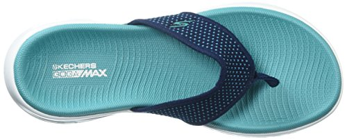 Turquoise Go Skechers Women's Navy 600 On Flip 15300 Flop The AExqRzrFnE