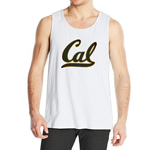 STUAOTO Men's University Of California Berkeley Cal Bears Logo Tank Top White