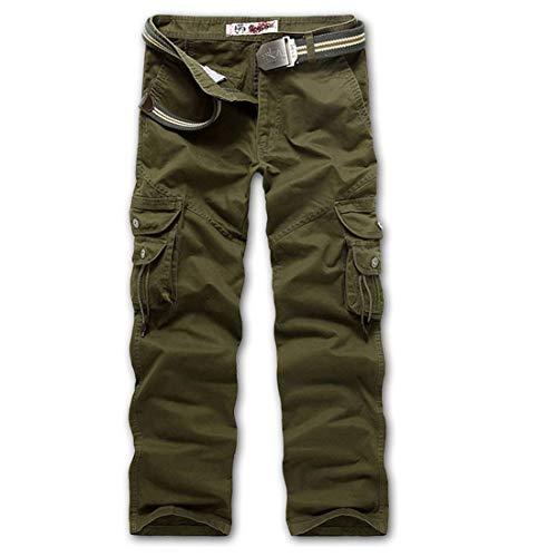 Adelina Pantaloni Da Lavoro Uomo Lunghi Abbigliamento Casual Con In Cotone Nero Armeegrün
