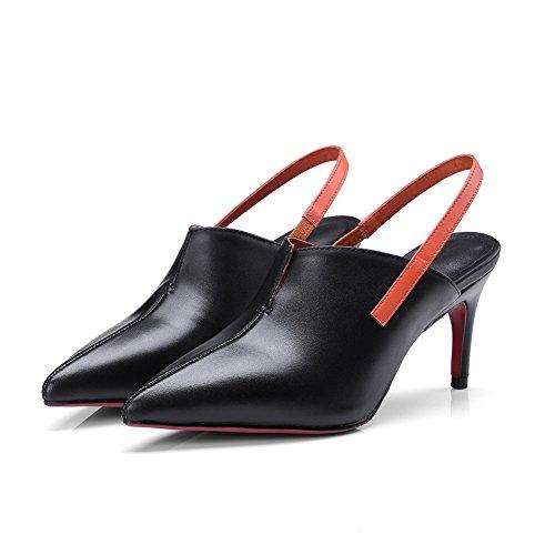 Sandales MJS03463 Compensées Inconnu Noir 1TO9 Femme wzq76O