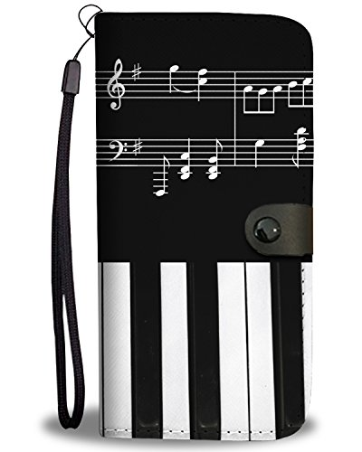 Gnarly Tees Musical Piano Wallet Phone Case, Motorola Moto Z Force