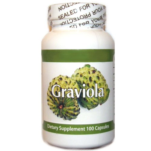 Graviola 1300mg Portion 100 Capsules une bouteille