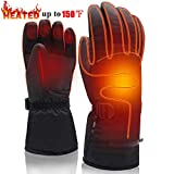 Electric Rechargeable Battery Heated Gloves,Cold Weather Thermal Heat Gloves Mittens,Sport Outdoor Warm Winter Heated Gloves,Cycle Motorcycle Drive Camp Hike Ski Heated Handwarmer (7.4V Gloves-L)