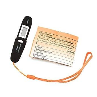Pluma de temperatura infrarroja LCD Mini Pocket sin contacto termómetro de infrarrojos batería