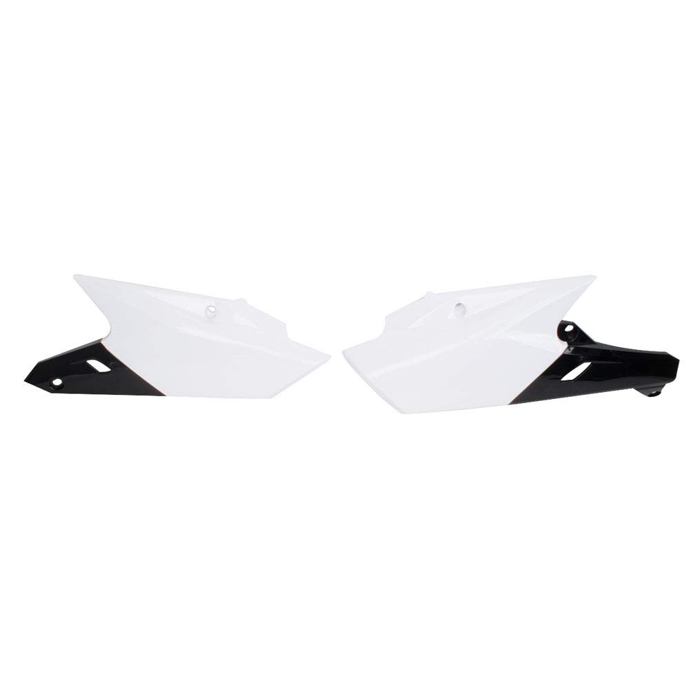 Polisport Side Panels White/Black - Fits: Yamaha YZ450F 2014-2017