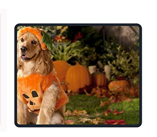 Dog Dressed As A Pumpkin Gaming Mouse Pad,Mouse Pad Unique Printed Mousepad 11.8-inch by 9.85-inch ()