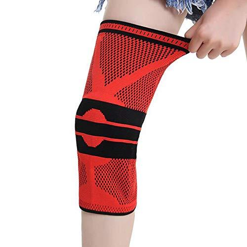 W-W-R 무릎 보호자 무릎 패드 농구 전문 스포츠 장비 남성과 여성 디딜 무릎 빨간색 M