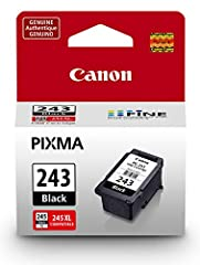 Experience crisp, smudge-resistant professional quality text with the PG-243 pigment black ink cartridge. Designed with FINE (Full Photolithographic Inkjet Nozzle Engineering) technology, your documents will realize added sharpness, detail an...