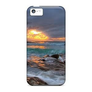[dkfyIRM3351wQdse] - New Amazing Sunset On A Rocky Shore Protective Iphone 5c Classic Hardshell Case