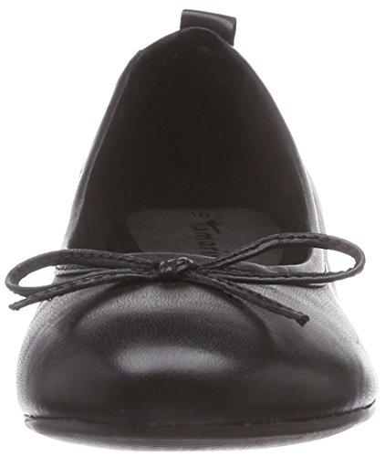 Tamaris 22114 - bailarinas cerradas de cuero mujer Negro (black 001)