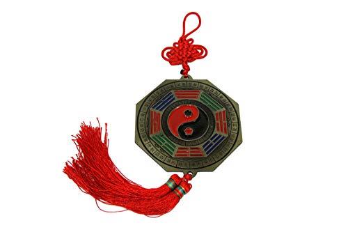 Yin Yang Bagua Eight Trigrams Mirror Hanger Tassel Mystic Knot Good Fortune Protection